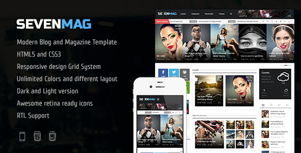 SevenMag 2.1 - тема для Wordpress